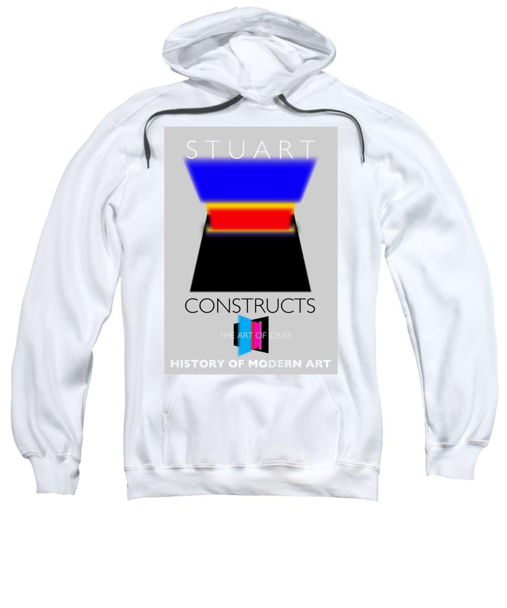 De Stijl Sweatshirt featuring the painting Constuctivist Poster by Charles Stuart