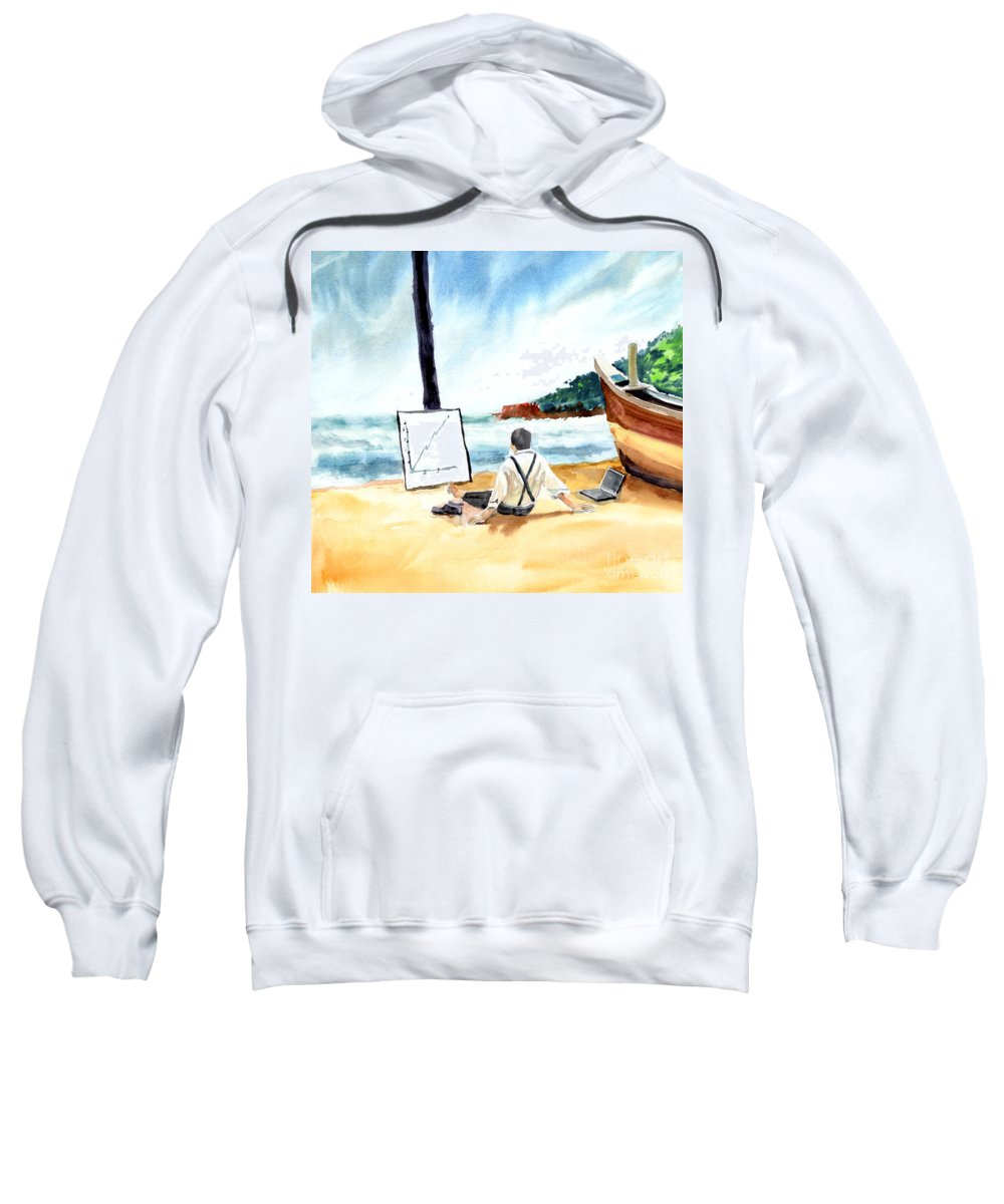 Landscape Sweatshirt featuring the painting Contemplation by Anil Nene