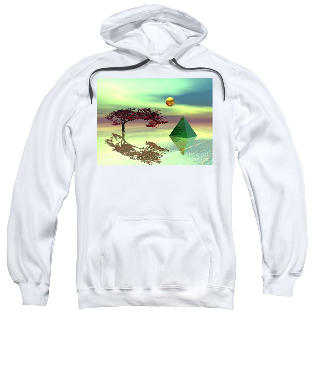 Fantasy Sweatshirt featuring the digital art Contemplative by Oscar Basurto Carbonell