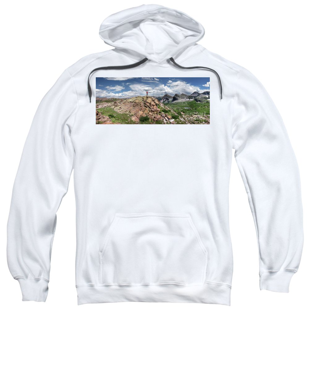 Weminuche Wilderness Sweatshirt featuring the photograph Continental Divide Above Twin Lakes - Weminuche Wilderness by Bruce Lemons