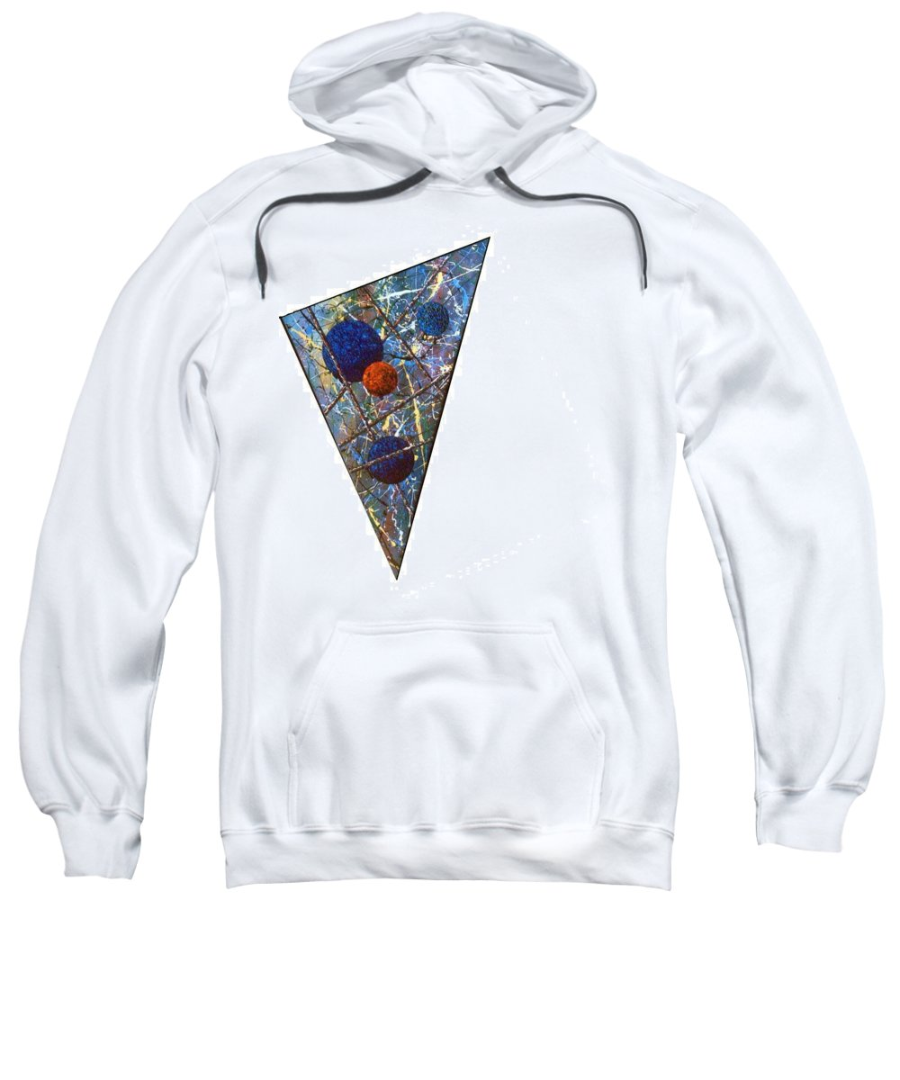 Abstract Sweatshirt featuring the painting Continuum 3 by Micah Guenther