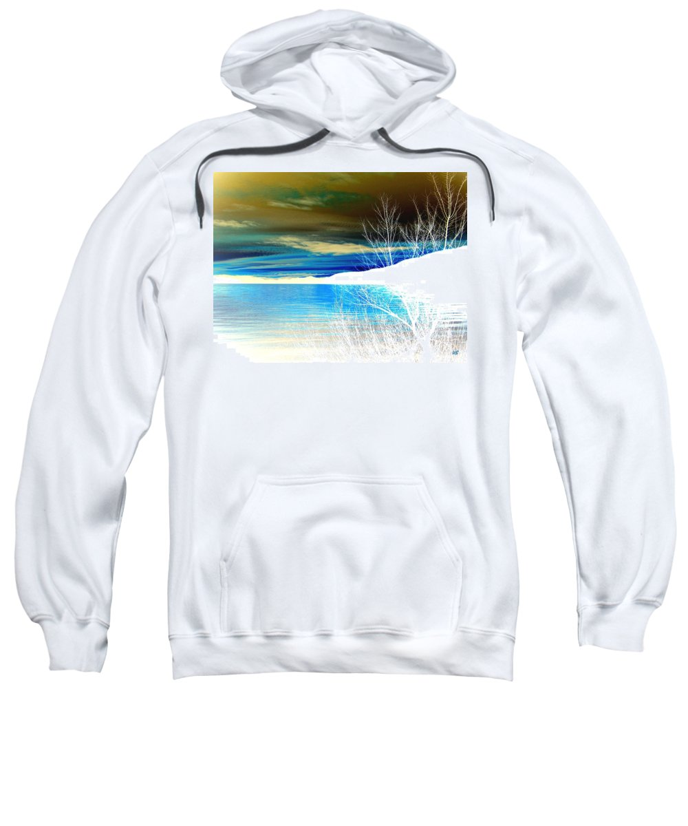Winter Sweatshirt featuring the digital art Cool Waters by Will Borden