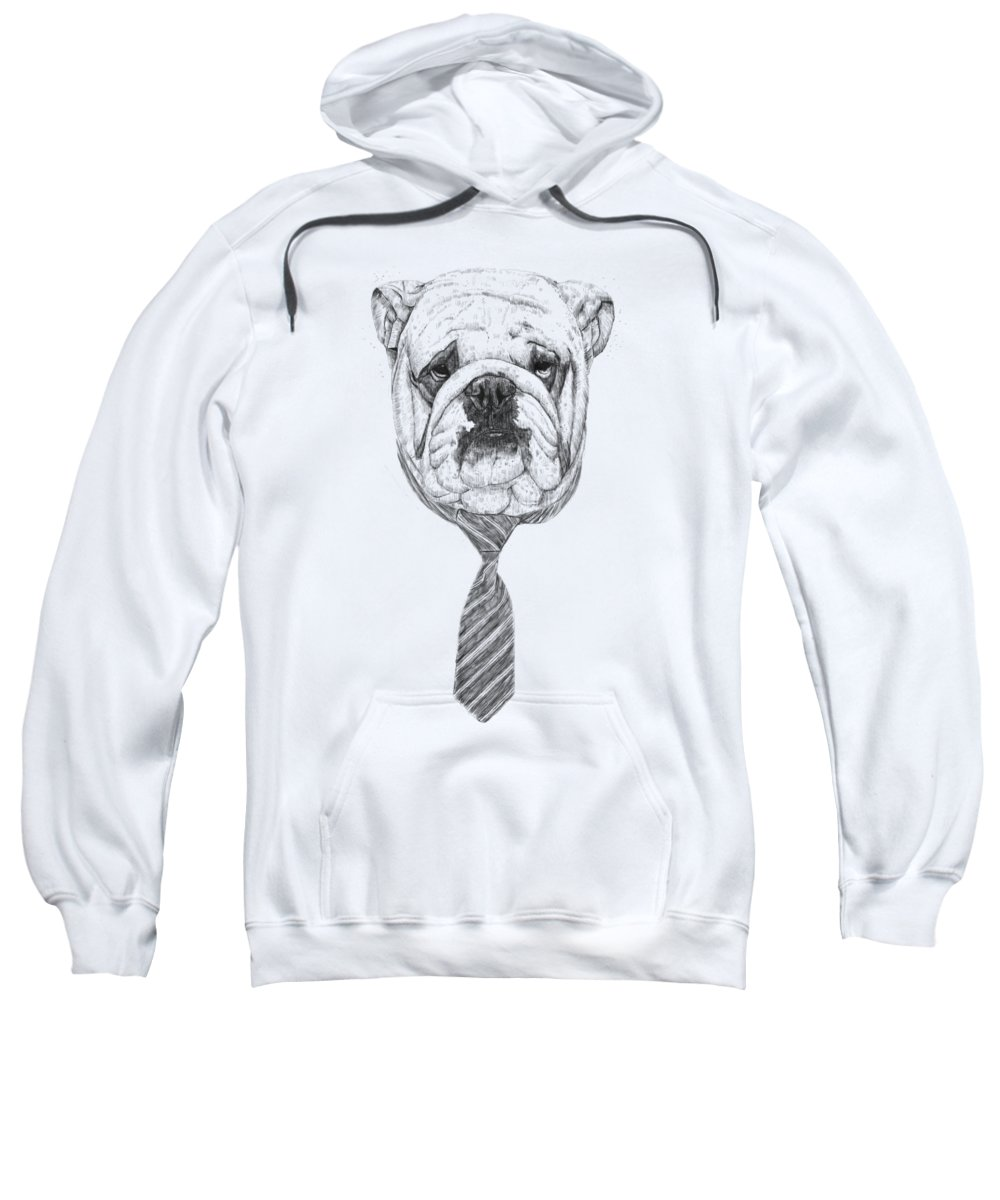 Dog Sweatshirt featuring the drawing Cooldog by Balazs Solti