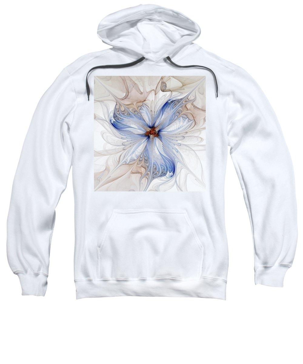 Digital Art Sweatshirt featuring the digital art Cornflower Blues by Amanda Moore