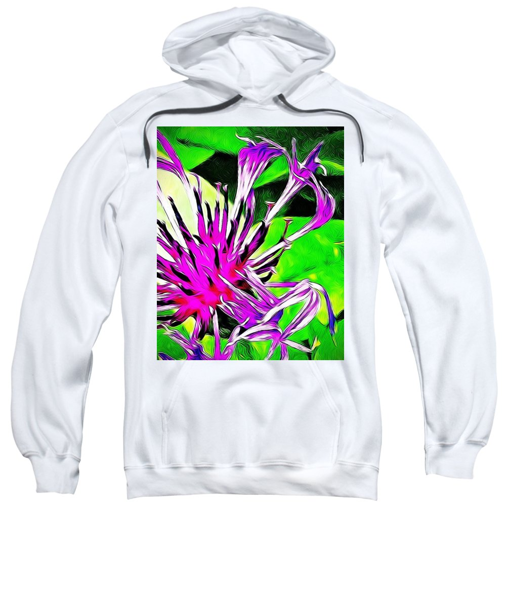 Flower Sweatshirt featuring the photograph Cornflower by Kat J