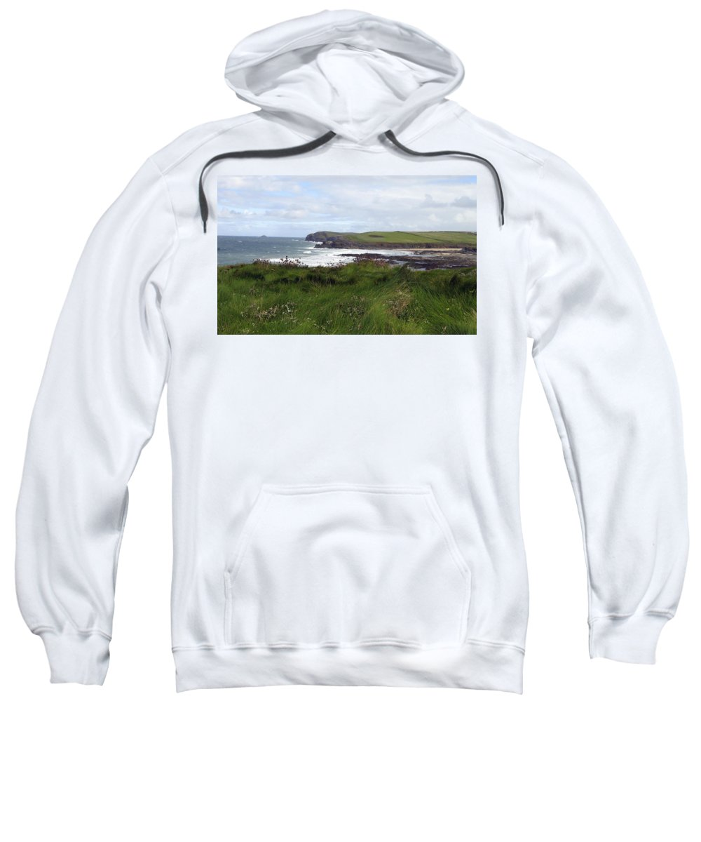 Cornwall Sweatshirt featuring the photograph Cornwall Coast 3 by Kurt Van Wagner