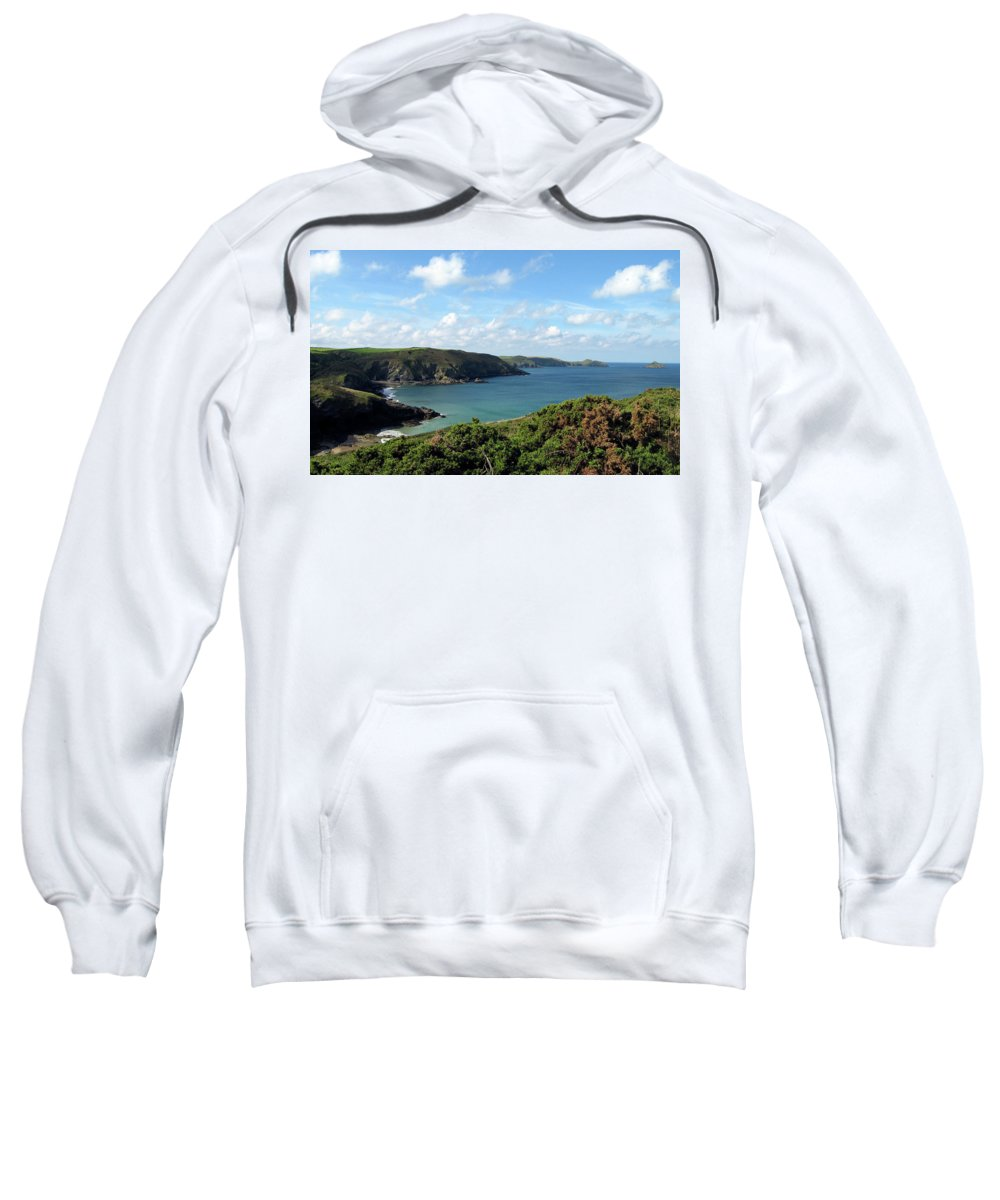 Cornwall Sweatshirt featuring the photograph Cornwall Coast II by Kurt Van Wagner