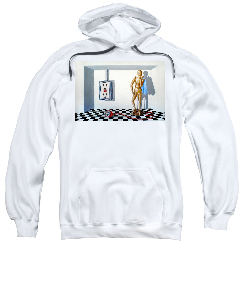 Corporate Intrigue Sweatshirt featuring the painting Corporate Relationship by Susan Frazier