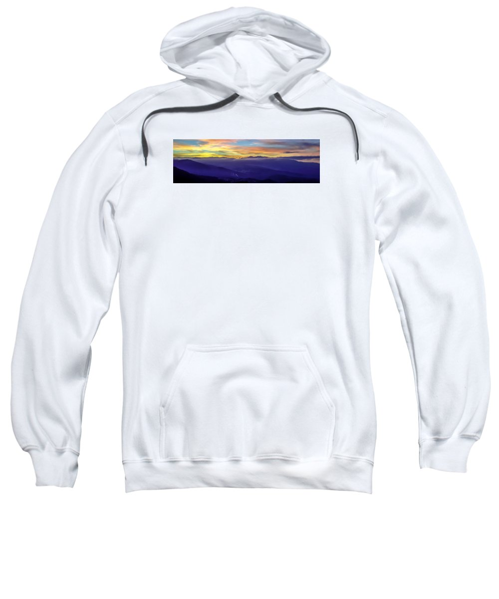 Corsica Sweatshirt featuring the photograph Corsican Sunset by Jim Collier