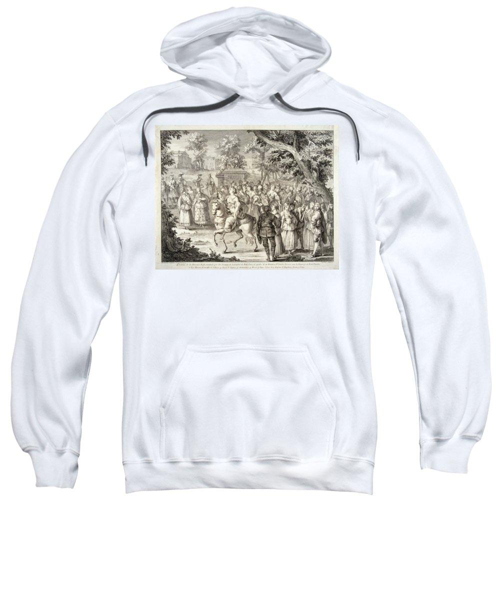 A J Defehrt Sweatshirt featuring the drawing Cortege Of Aurora by A J Defehrt