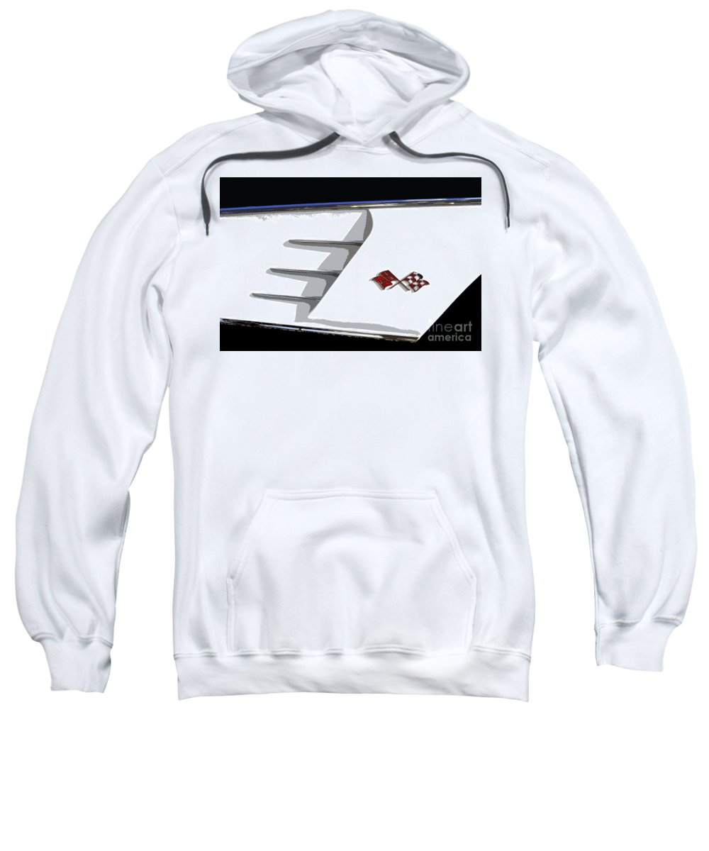 Classic Car Sweatshirt featuring the painting Corvette Colors by David Lee Thompson