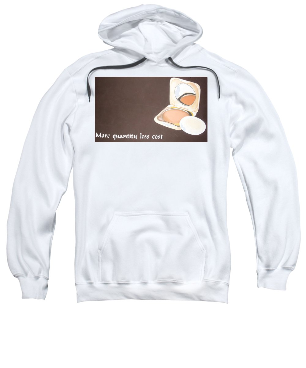 Paintings Sweatshirt featuring the painting Cosmetics Advert by Olaoluwa Smith