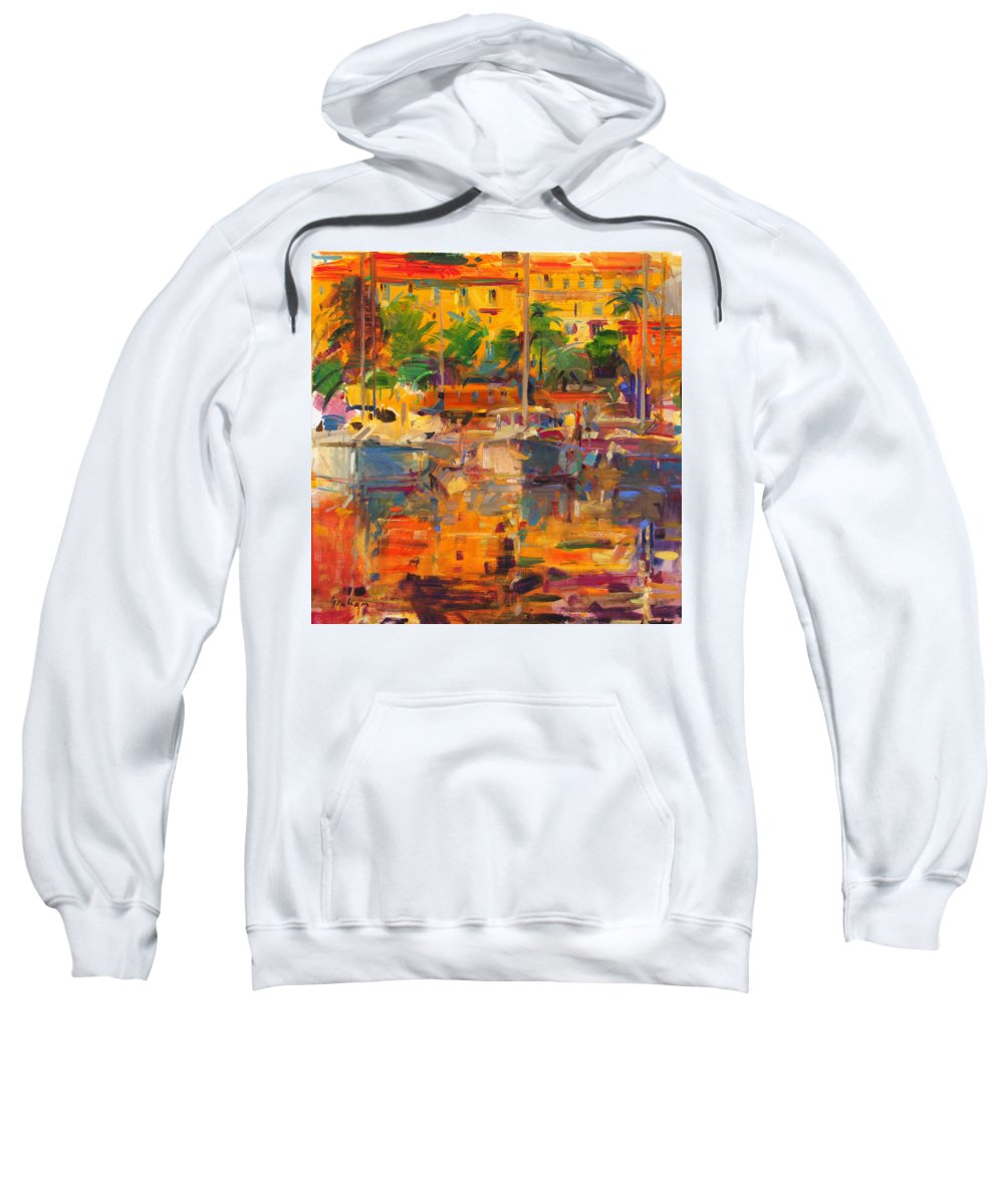 Mediterranean Sweatshirt featuring the photograph Cote D'azur Reflections by Peter Graham