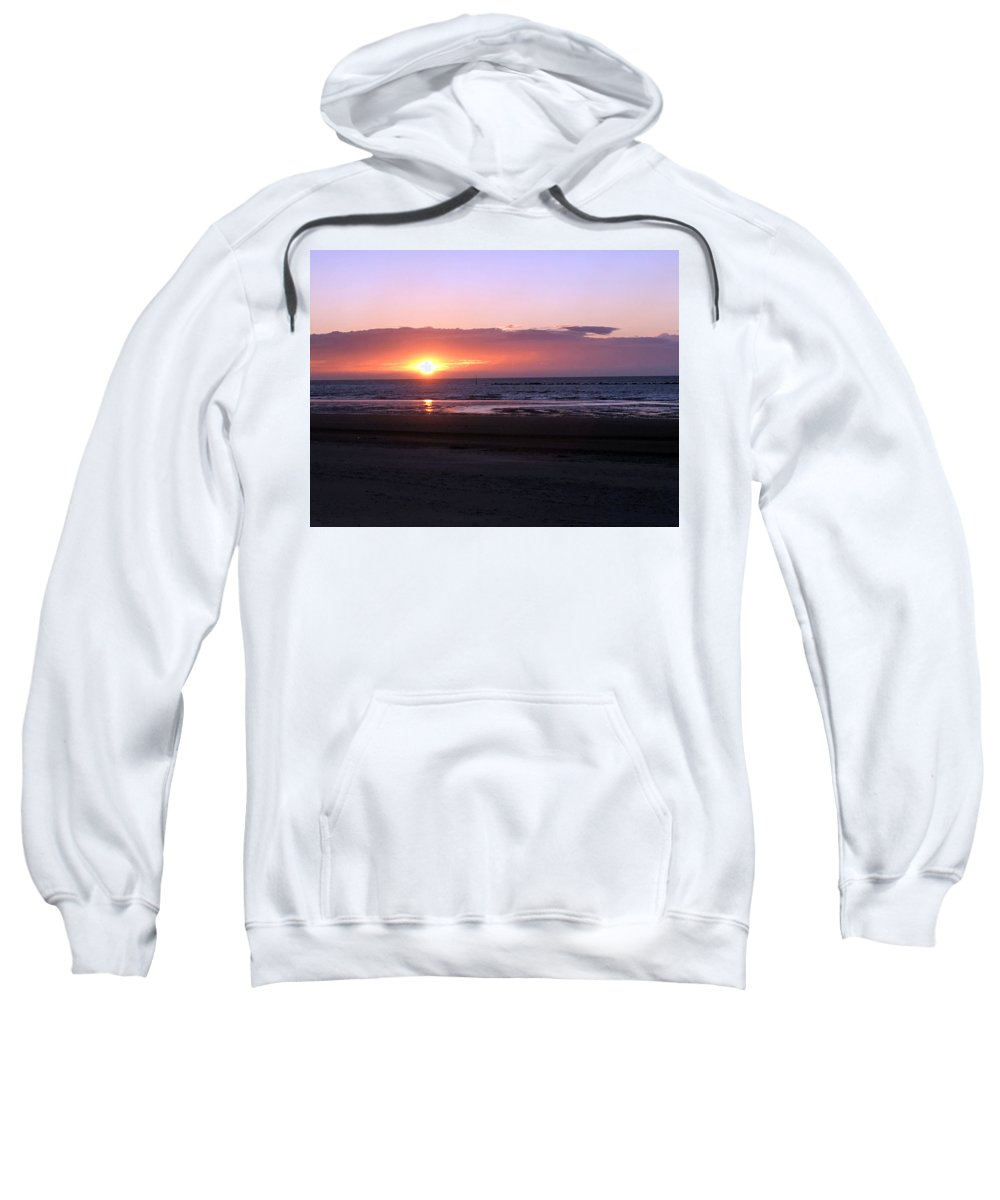 See Sweatshirt featuring the photograph Coucher De Soleil Sur La Mer Du Nord by Sophie Michaud