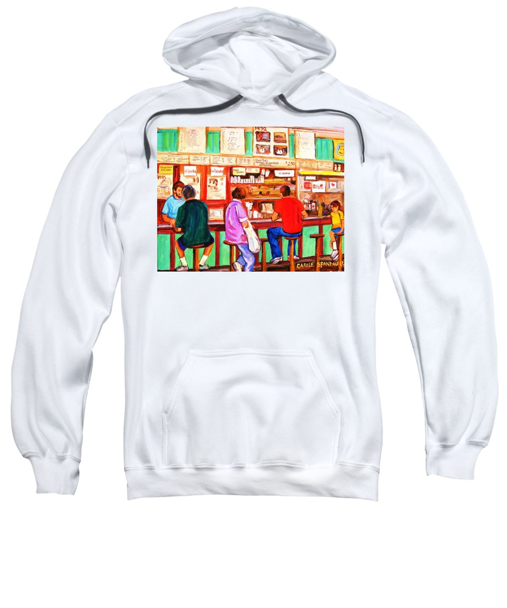 Montreal Sweatshirt featuring the painting Counter Culture by Carole Spandau