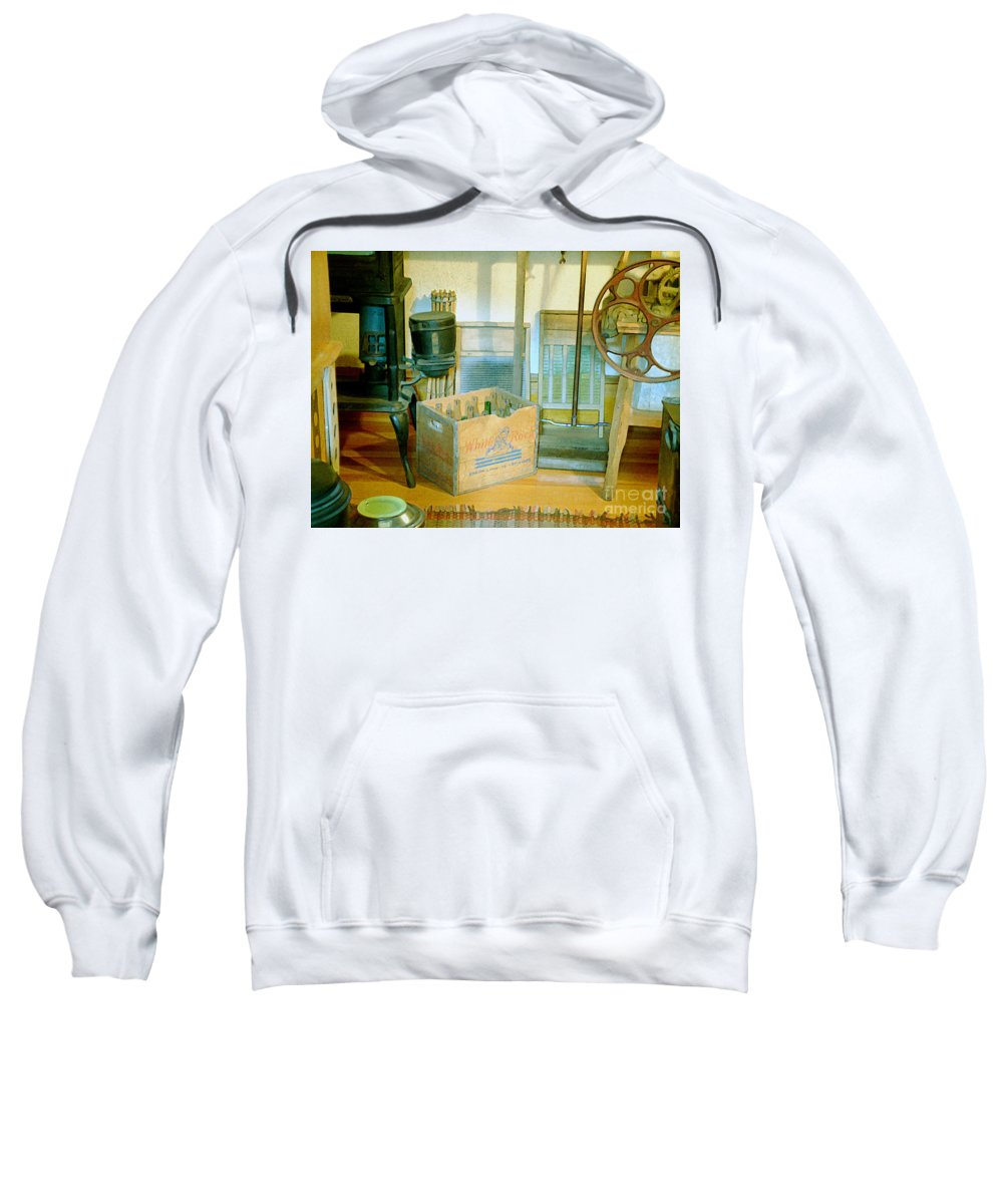 Kitchen Sweatshirt featuring the painting Country Kitchen Sunshine II by RC DeWinter