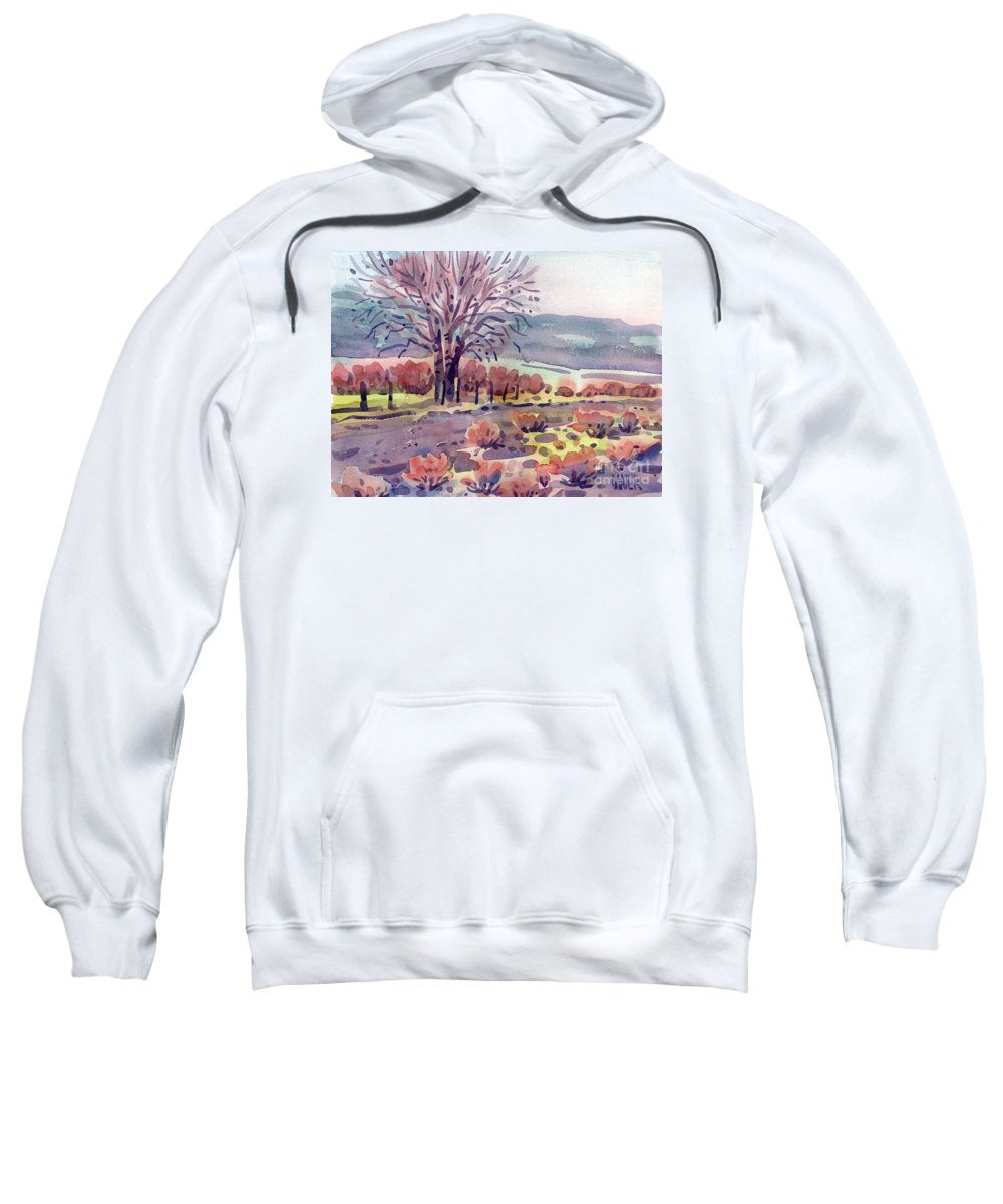 Country Road Sweatshirt featuring the painting Country Road by Donald Maier