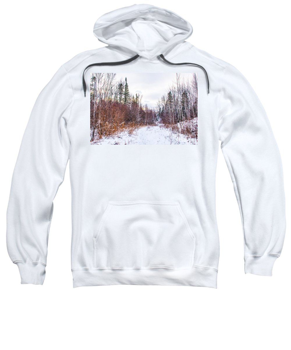 Snow Sweatshirt featuring the photograph Country Winter 6 by Wesley Farnsworth