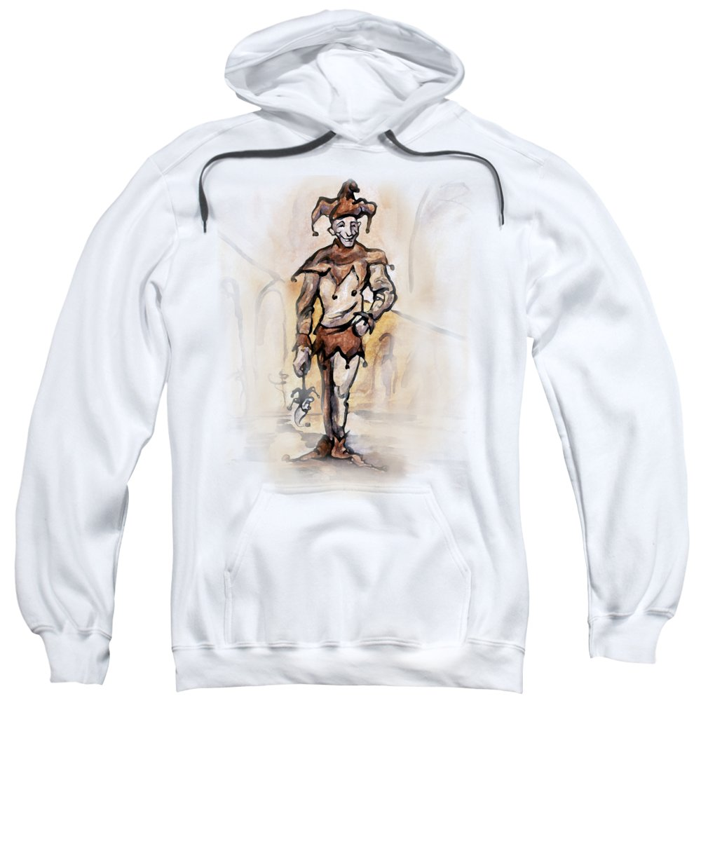 Jester Sweatshirt featuring the painting Court Jester by Kevin Middleton