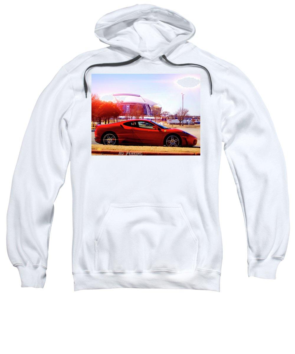 Cowboys Stadium Sweatshirt featuring the photograph Cowboys Stadium V2 by Douglas Barnard