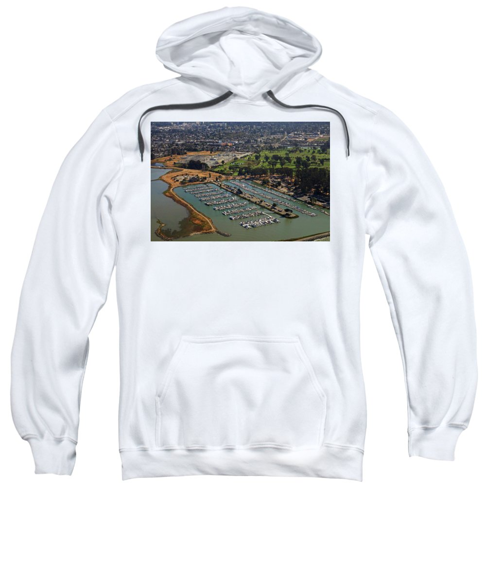 Coyote Sweatshirt featuring the photograph Coyote Point Marina San Francisco Bay Sfo California by Toby McGuire