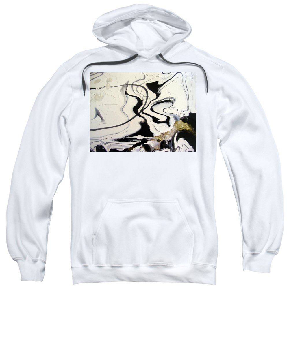Original Sweatshirt featuring the painting Crack In The Ice2 by Dawn Hough Sebaugh