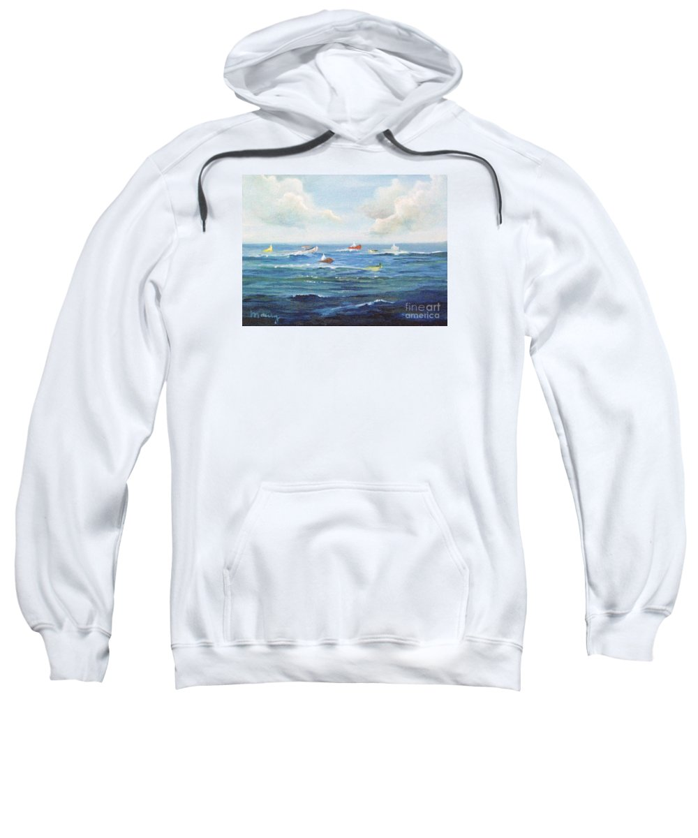 Impressionism Sweatshirt featuring the painting Crashboat Beach by Alicia Maury