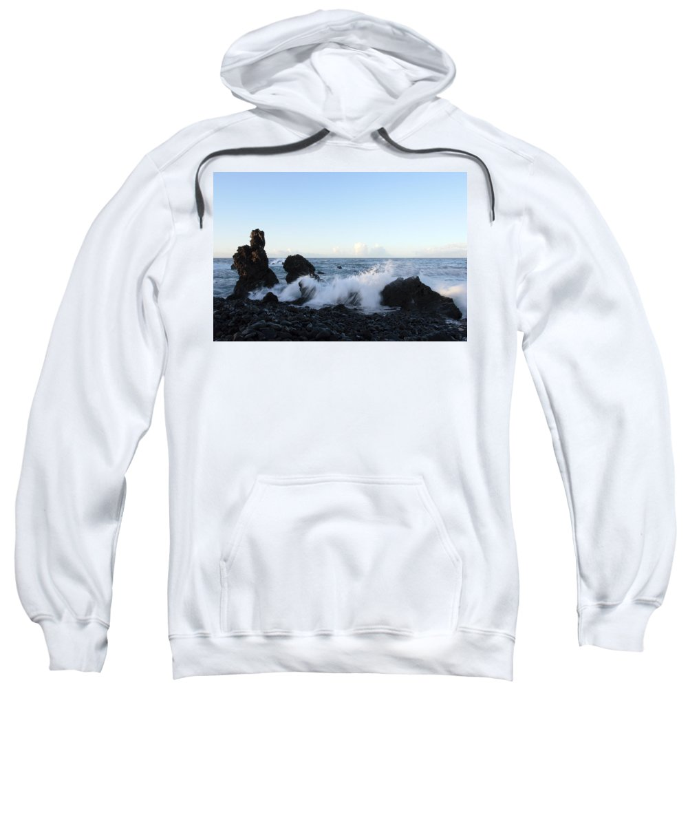 Waves Sweatshirt featuring the photograph Crashing Wave by Phil Crean