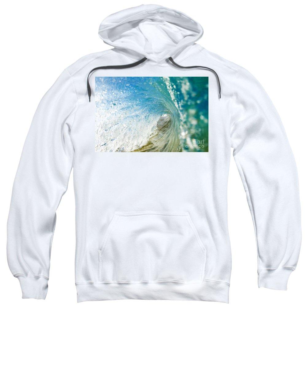 Amazing Sweatshirt featuring the photograph Crashing Wave Tube by MakenaStockMedia - Printscapes