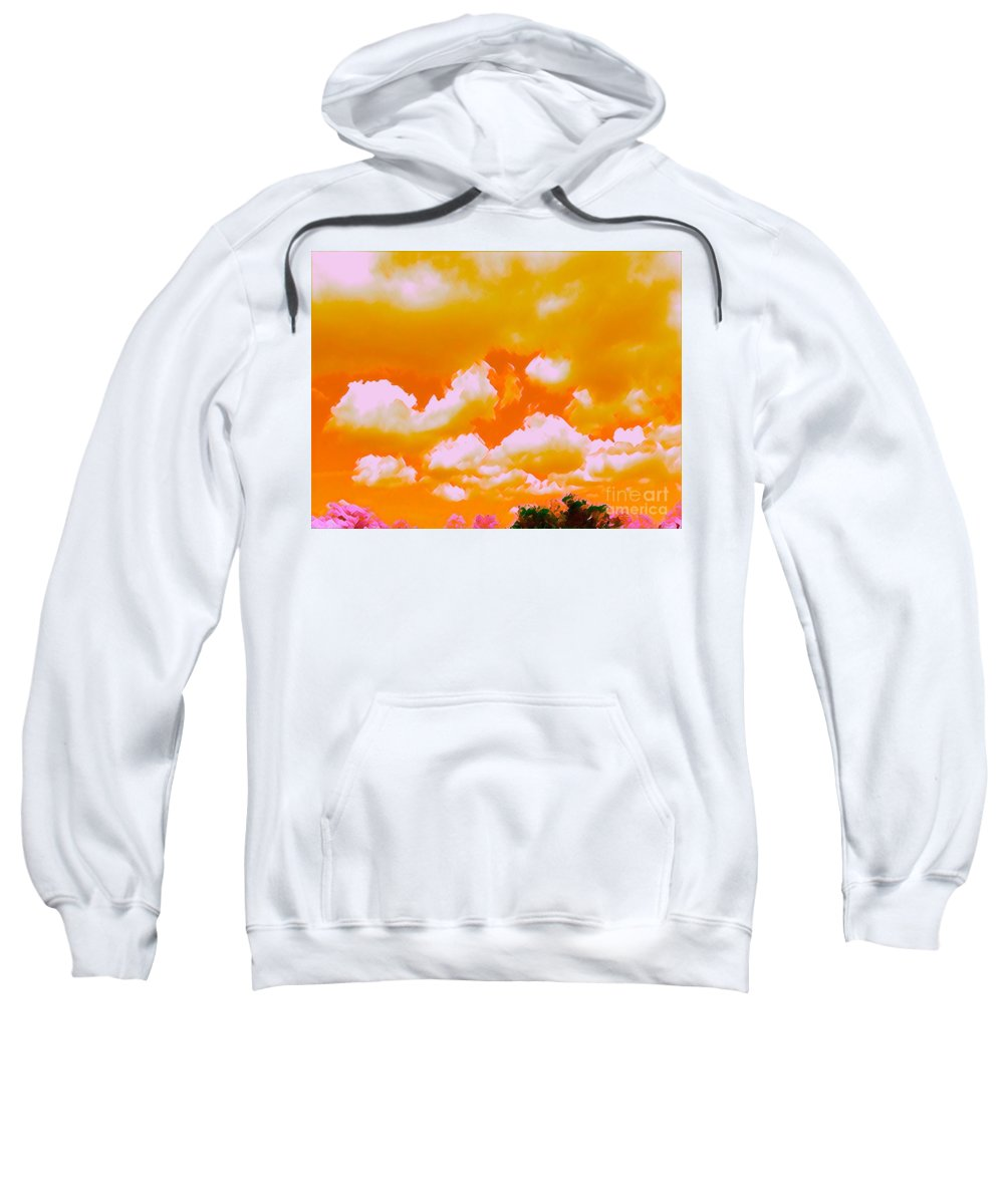 Sky Sweatshirt featuring the mixed media Creamsicle Sky by Glenn Wilson Boerstler II
