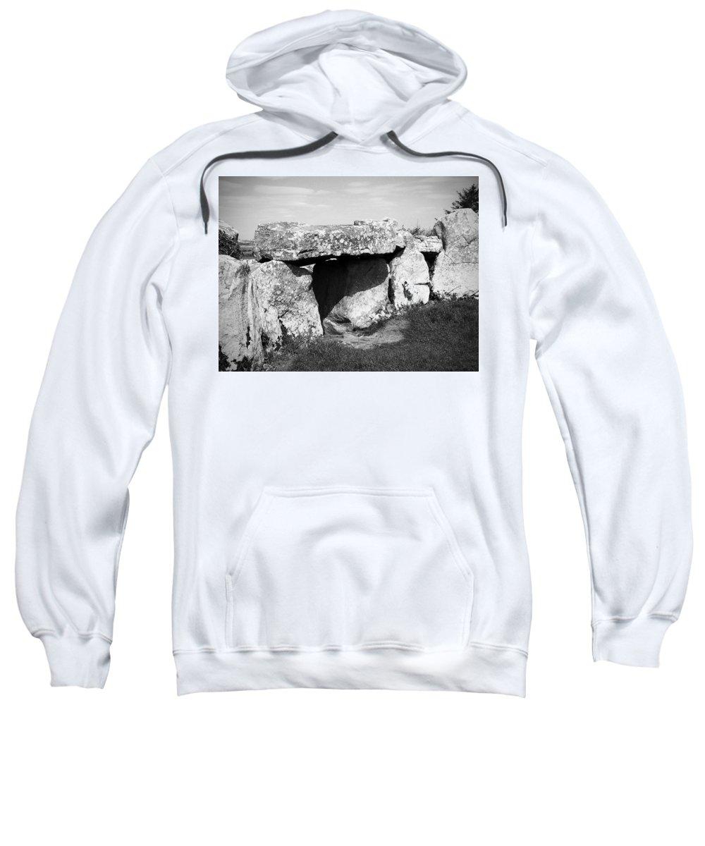Ireland Sweatshirt featuring the photograph Creevykeel Court Cairn County Sligo Ireland by Teresa Mucha