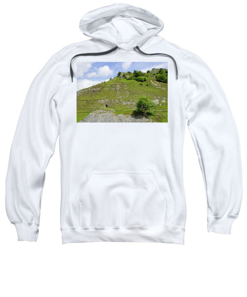 Bright Sweatshirt featuring the photograph Cressbrook Dale Opposite To Tansley Dale by Rod Johnson