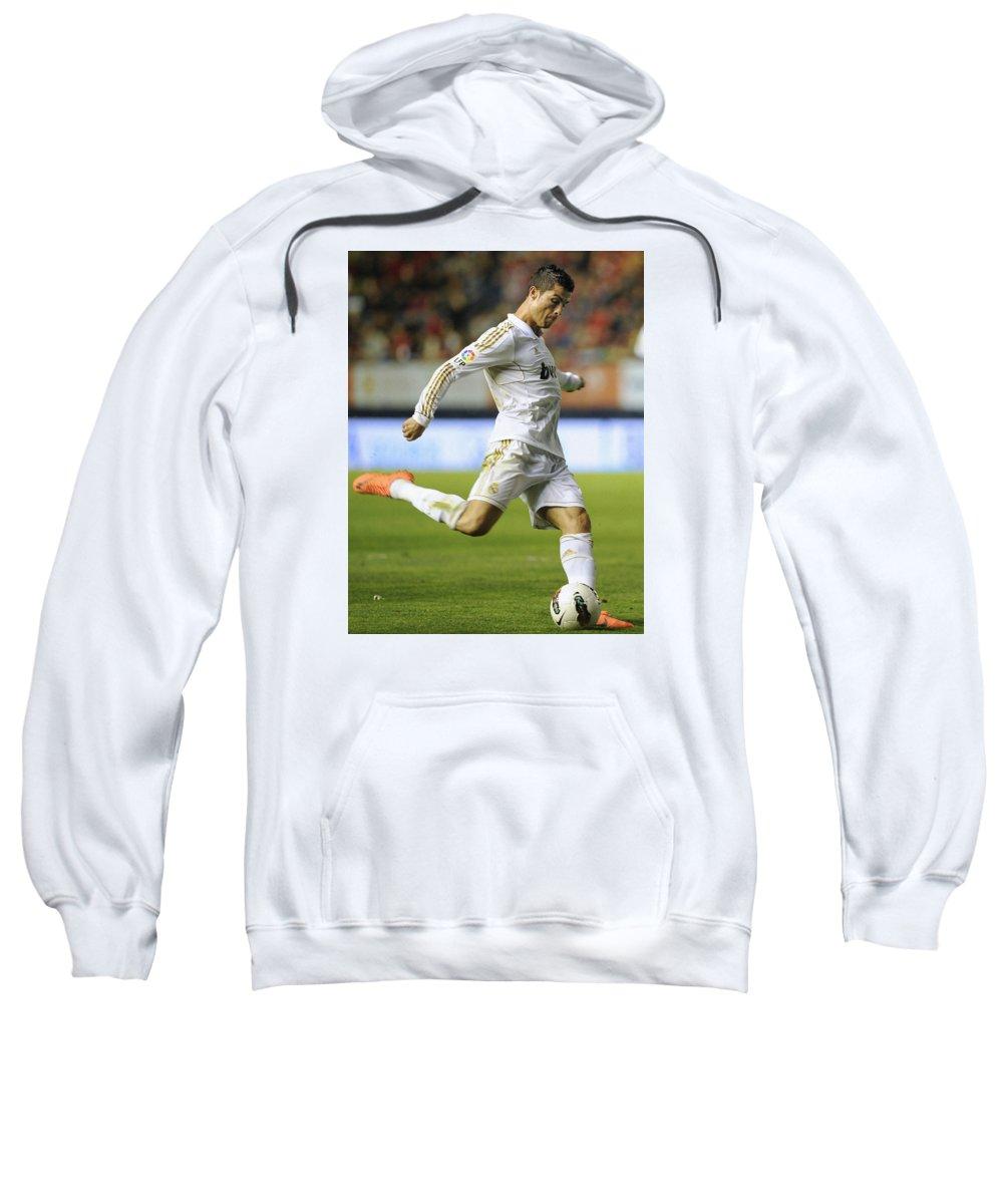 Spain Sweatshirt featuring the photograph Cristiano Ronaldo 2 by Rafa Rivas