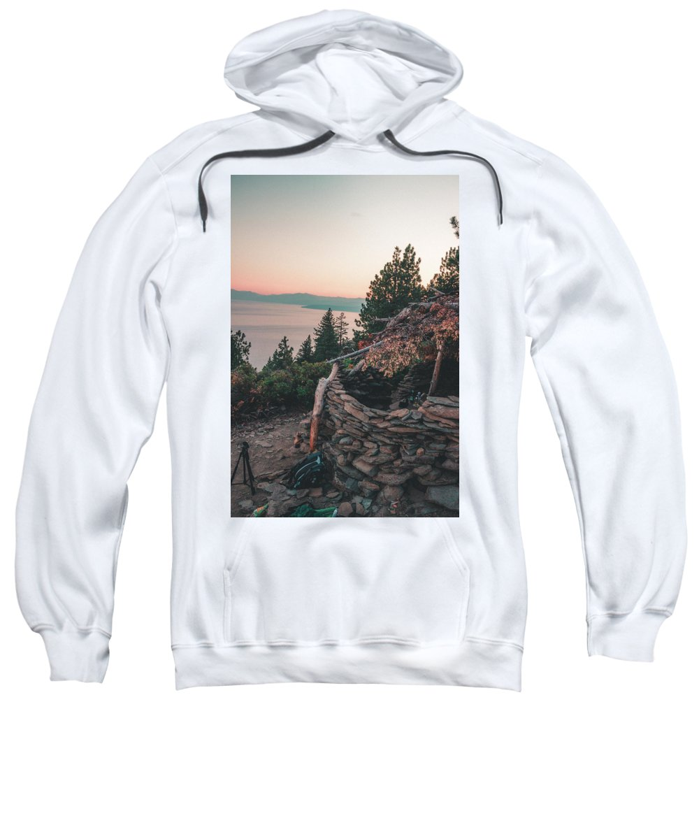 Sweatshirt featuring the photograph Crystal Bay Hut by Conner Koch