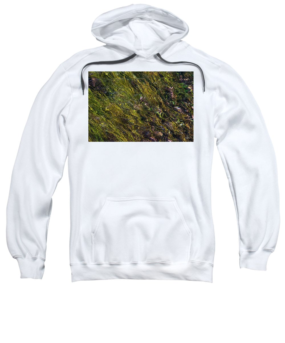 Appealing Sweatshirt featuring the photograph Crystal Clear Waters by Leland D Howard