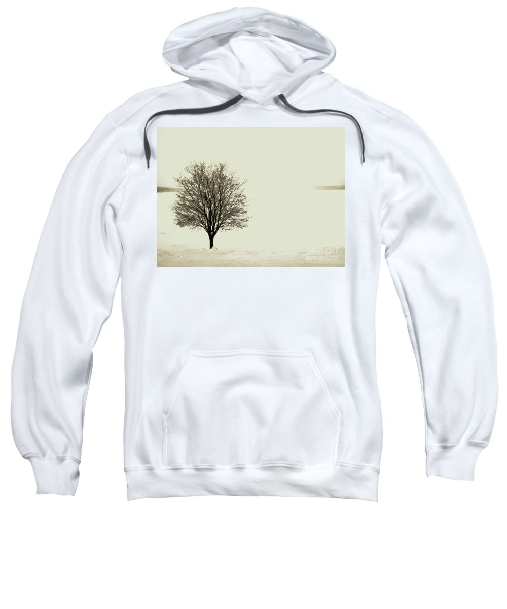 White Sweatshirt featuring the photograph Crystal Lake In Winter by Desiree Paquette