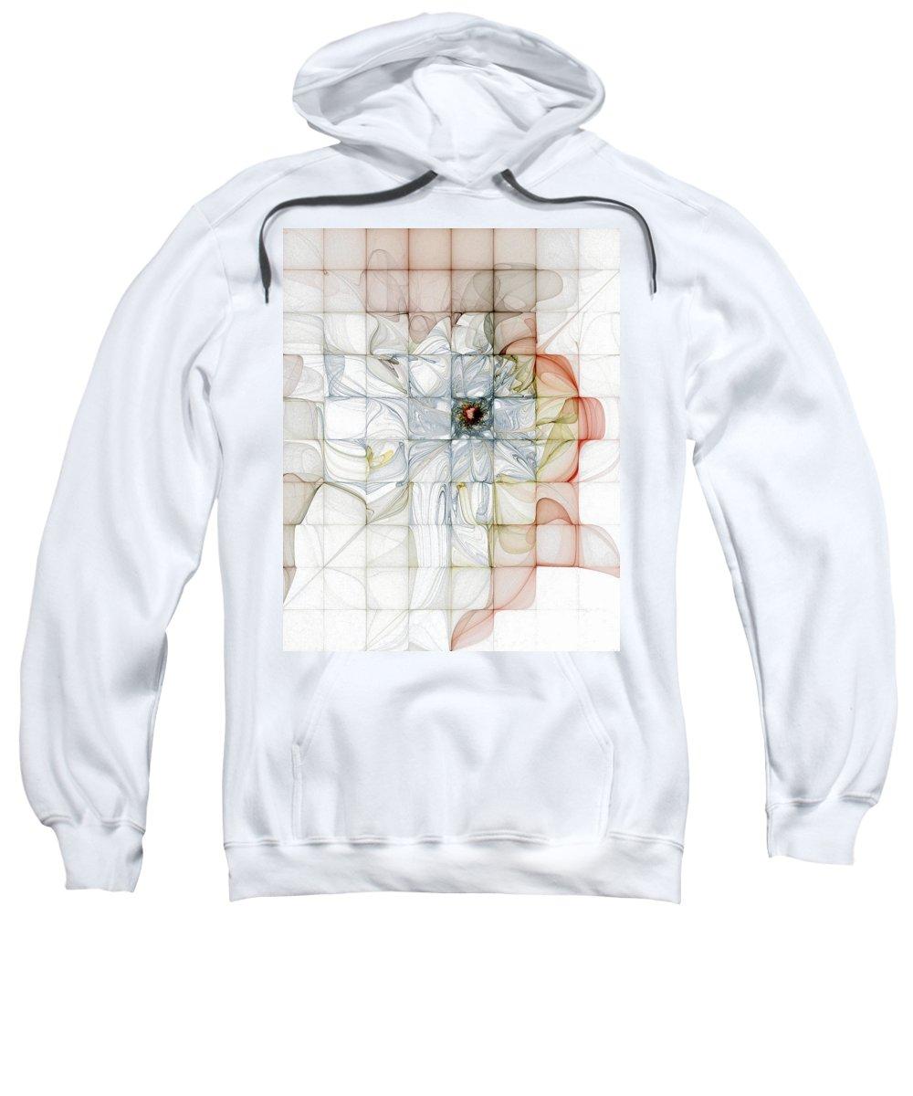 Digital Art Sweatshirt featuring the digital art Cubed Pastels by Amanda Moore