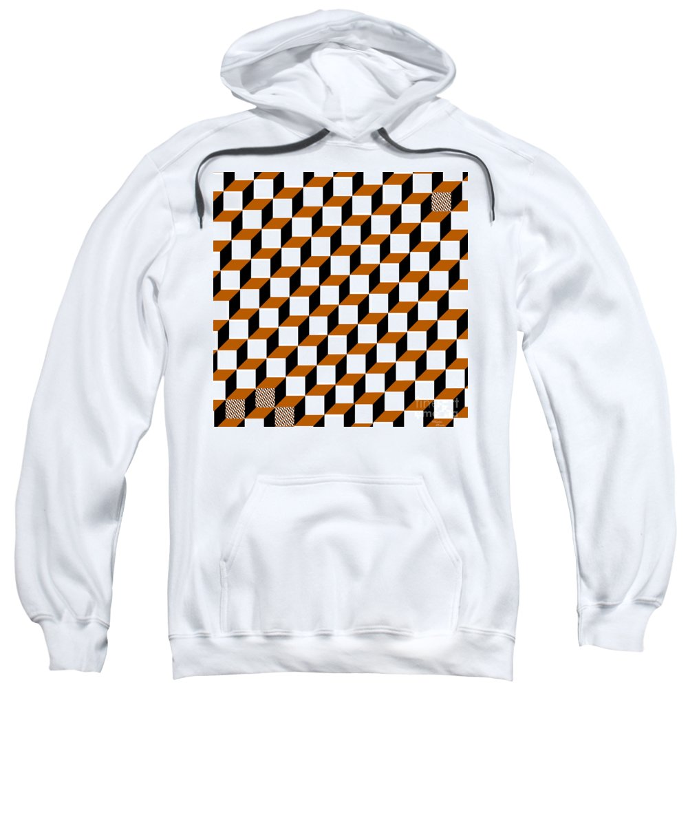 Clay Sweatshirt featuring the digital art Cubism Squared by Clayton Bruster