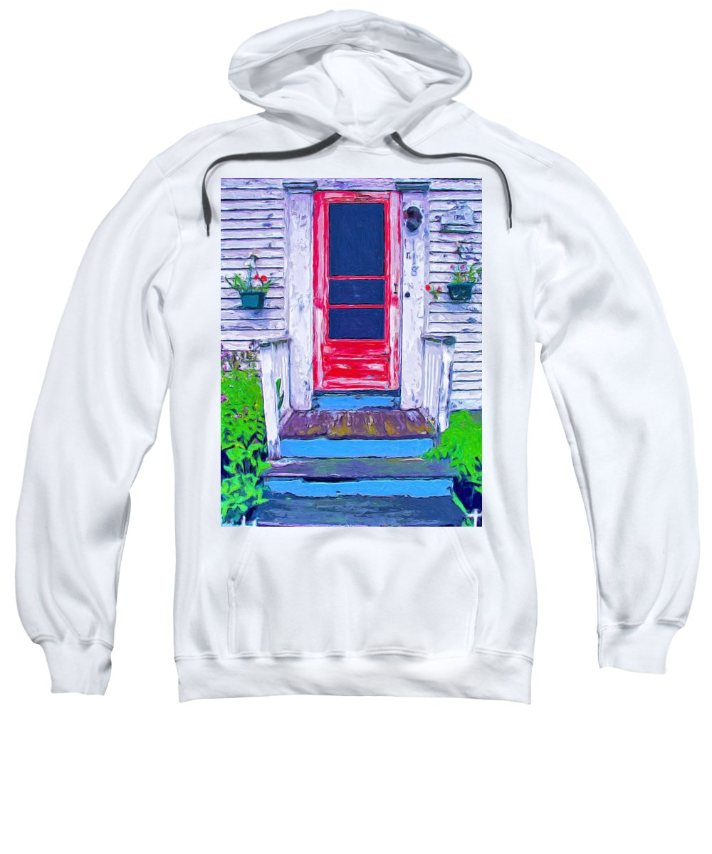 Old Home Sweatshirt featuring the painting Curb Appeal by Dominic Piperata