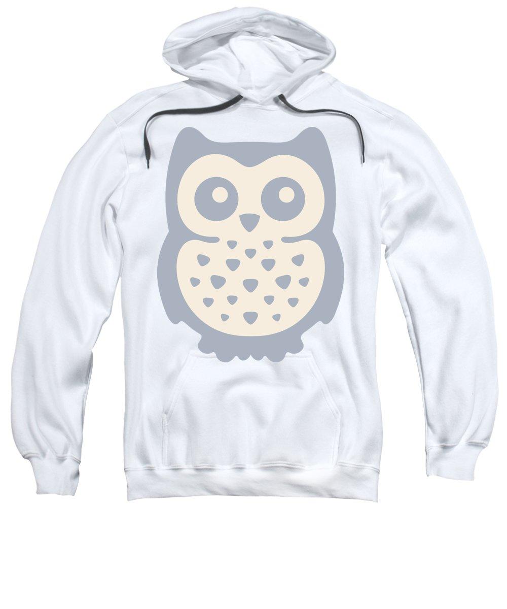 Pastel Sweatshirt featuring the digital art Cute Owl by Julia Jasiczak