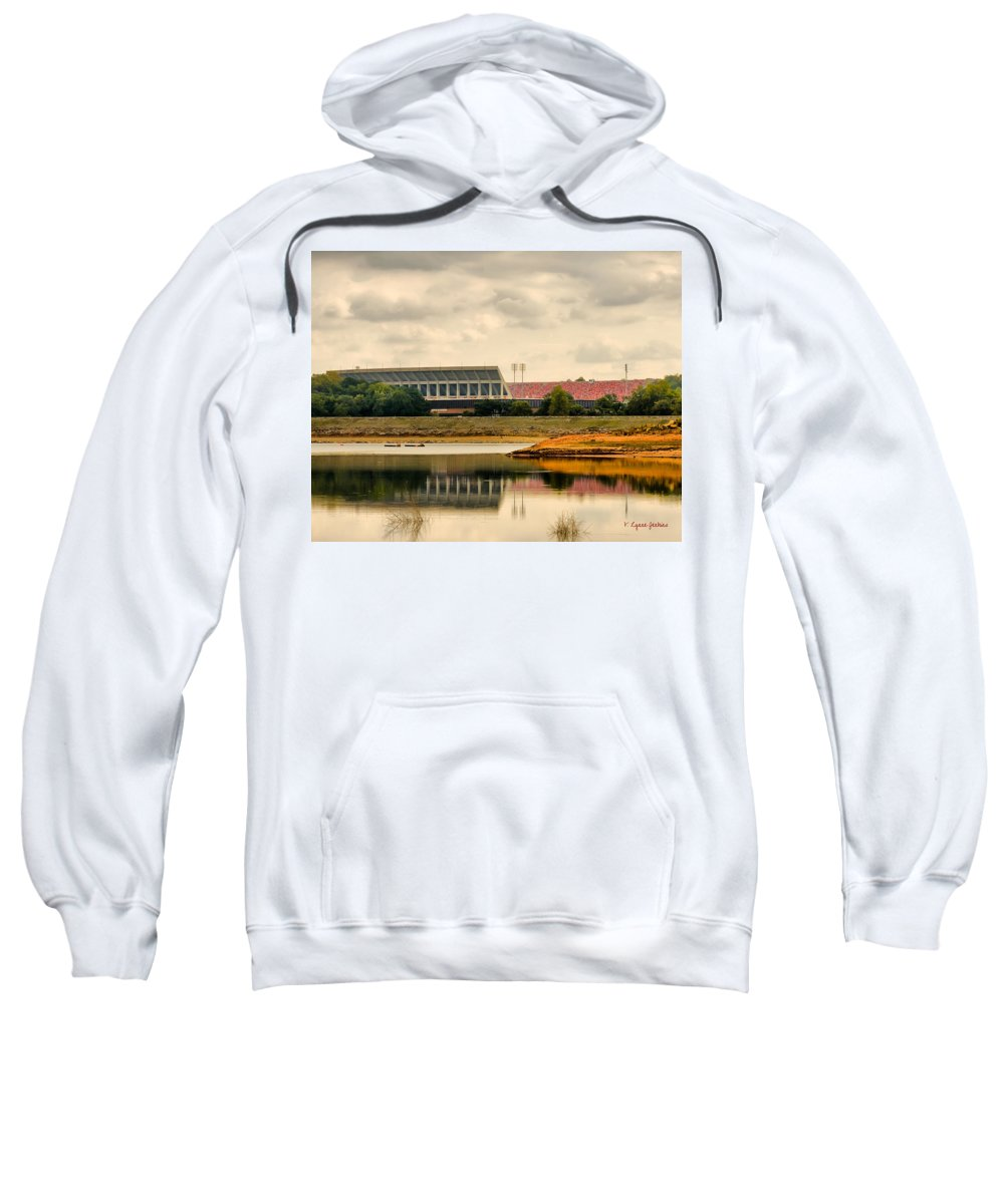 Clemson Sweatshirt featuring the photograph Dabo's First Game by Lynne Jenkins