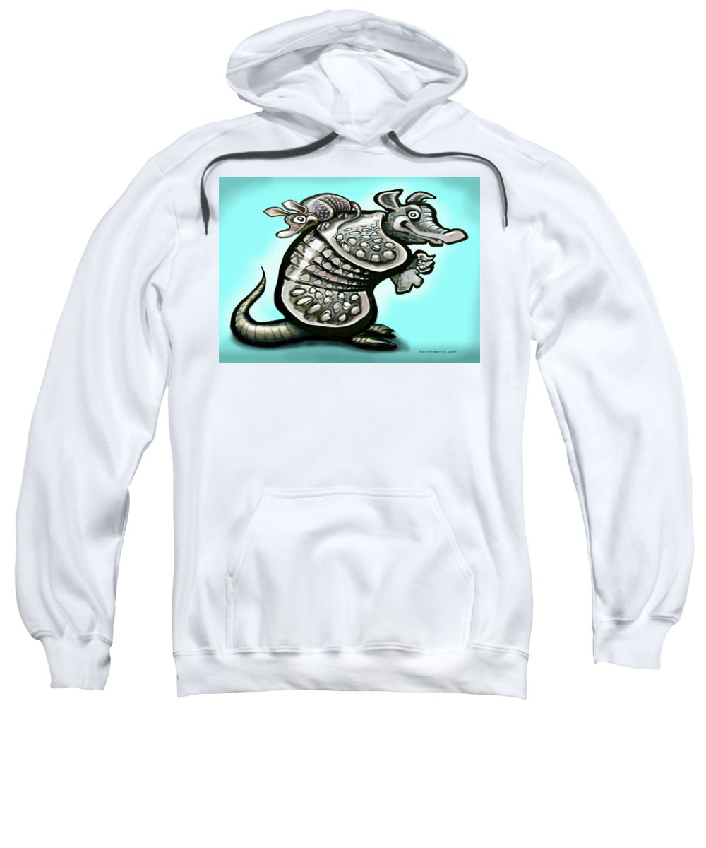 Dad Sweatshirt featuring the digital art Daddy Dillo by Kevin Middleton
