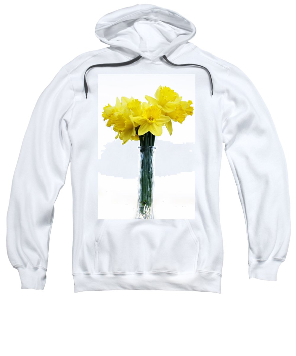 Daffodil Sweatshirt featuring the photograph Daffodil by Marilyn Hunt