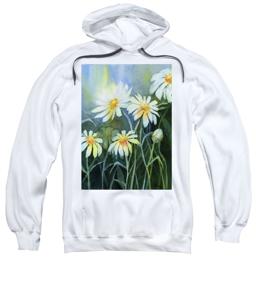White Flower Paintings Hooded Sweatshirts T-Shirts