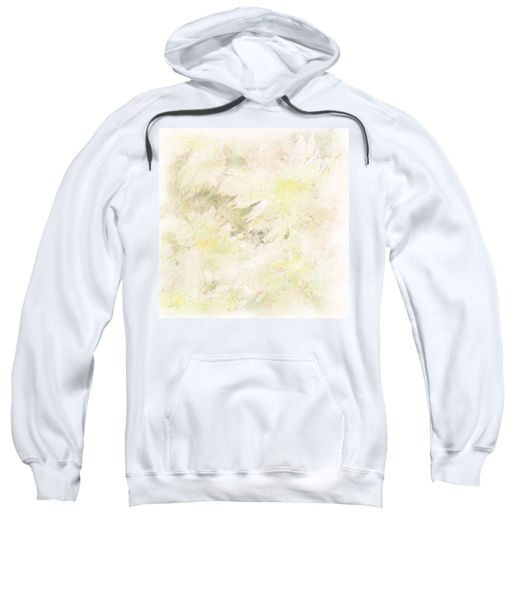 Abstract Sweatshirt featuring the digital art Daisy Dreams by Rachel Christine Nowicki