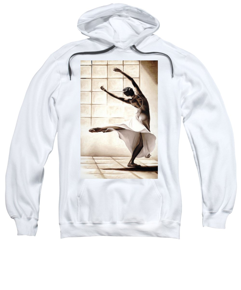 Dancer Sweatshirt featuring the painting Dance Finesse by Richard Young