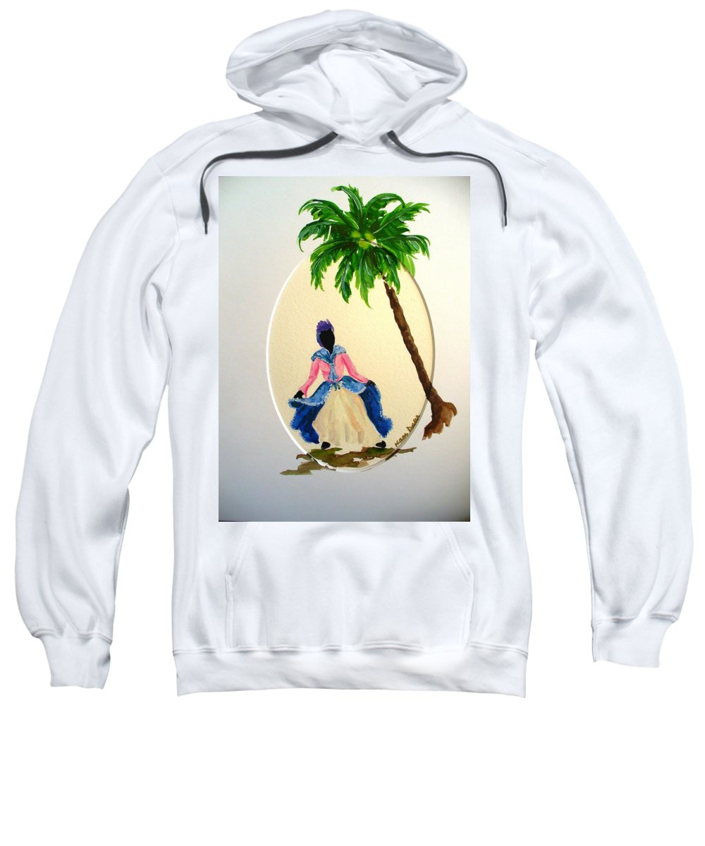 Dancer Caribbean Sweatshirt featuring the painting Dancer 2 by Karin Dawn Kelshall- Best