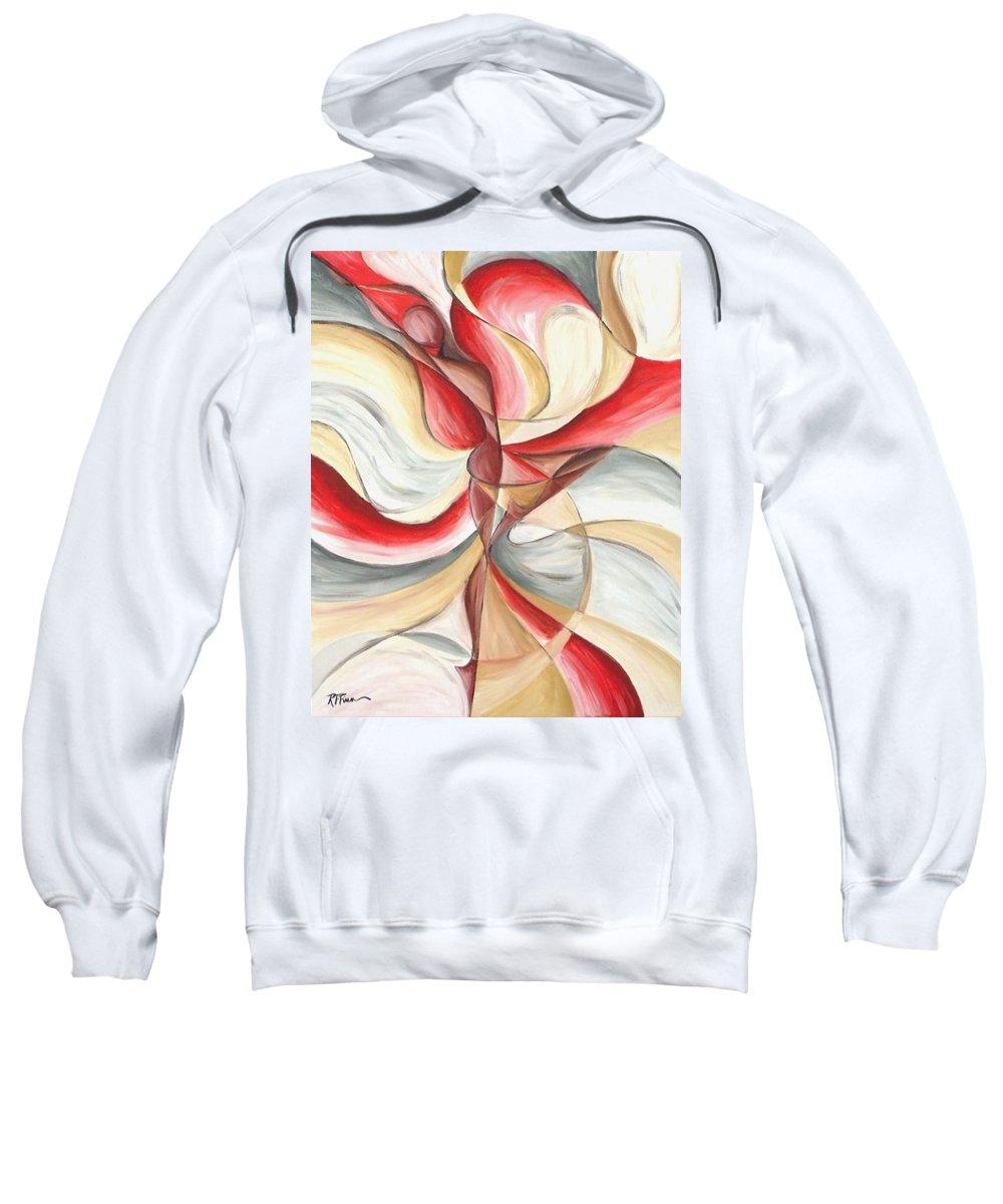 Figure Sweatshirt featuring the painting Dancer II by Rowena Finn