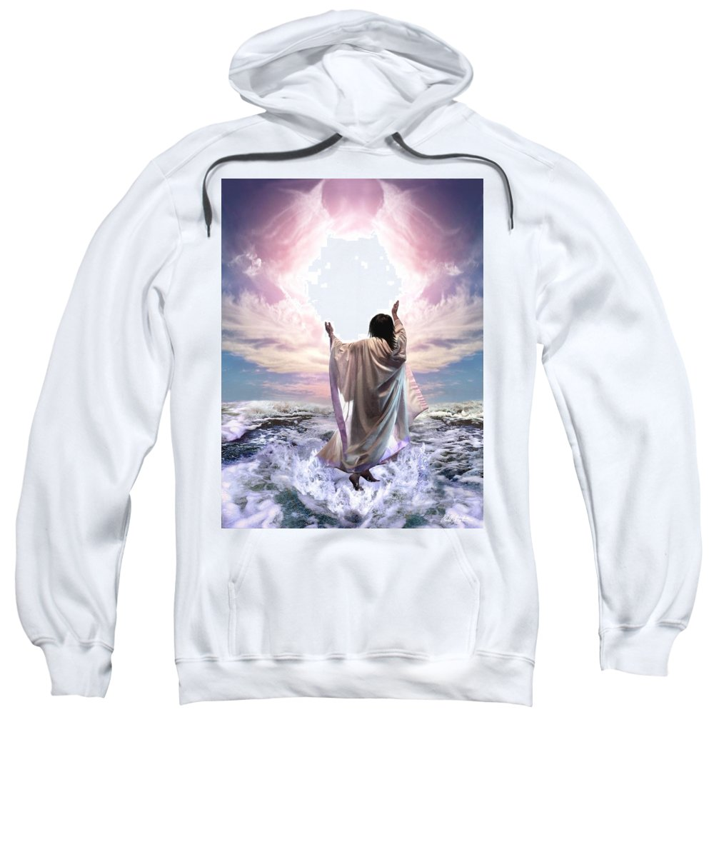 Yeshua Sweatshirt featuring the digital art Dancing For My Father by Bill Stephens