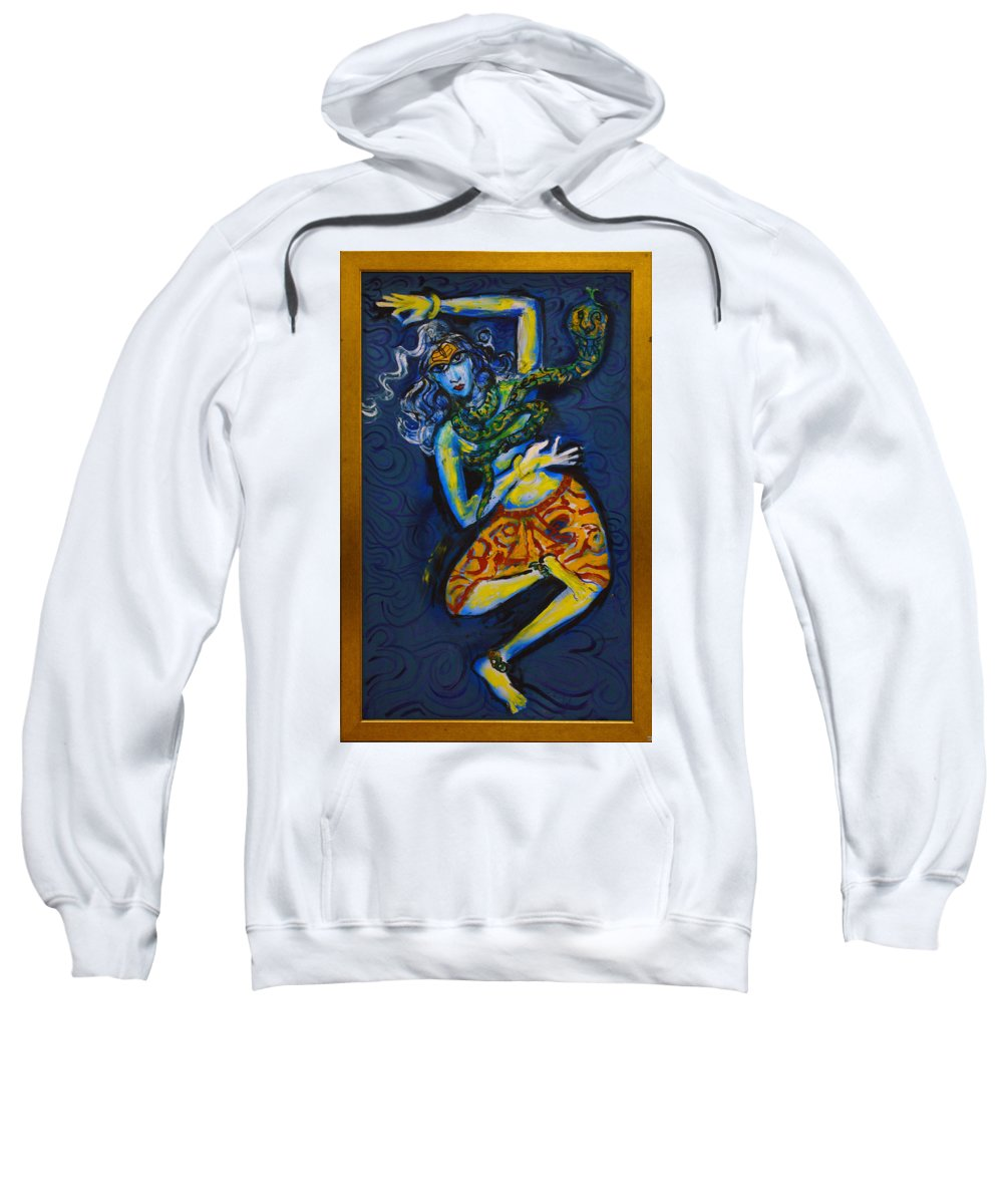Dance Sweatshirt featuring the painting Dancing Shiva by Guruji Aruneshvar Paris Art Curator Katrin Suter